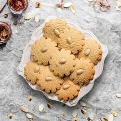 Marzipan Cookies with almonds around