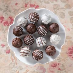 Assorted Sugar Free Truffles on a plate