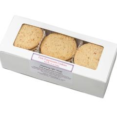 Pink Peppercorn Cookies in white gift box
