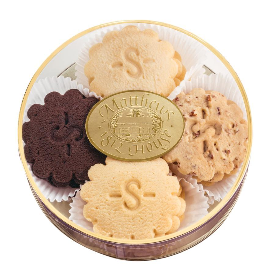Sugar Free Shortbread Assortment in a clear round