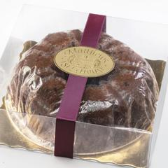 Old-Fashioned Spice Cake in clear gift box with ribbon