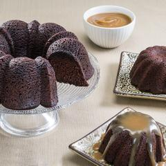 Espresso Bundt Cake and Duo Cakes with Caramel Espresso Sauce