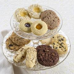 Cookie Tasting Sampler on a decorative platter